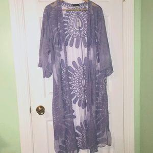 NWT ECLIPSE Lilac Duster Kimono